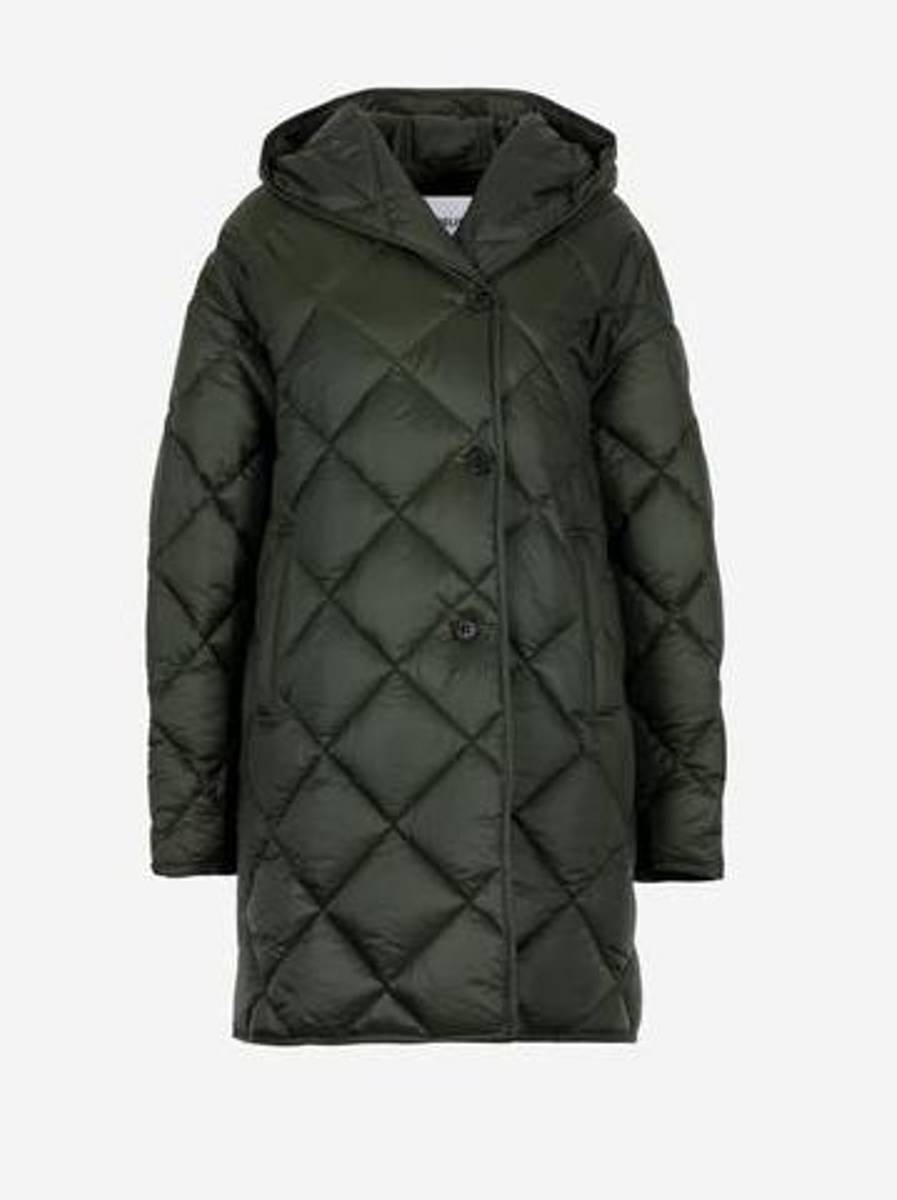 Lempelius 737 Hooded Quilted Coat Deep Green