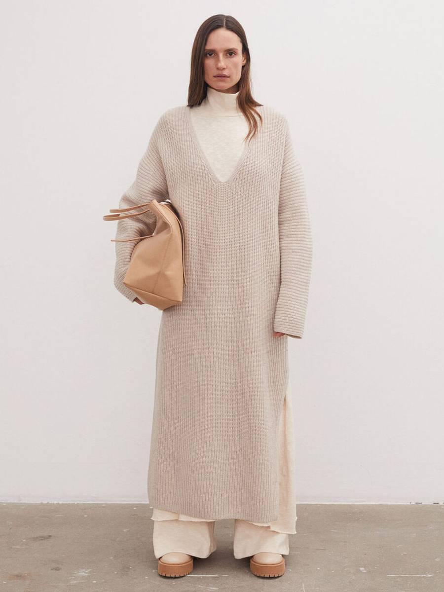 By Malene Birger Favine Dress Oyster Gray