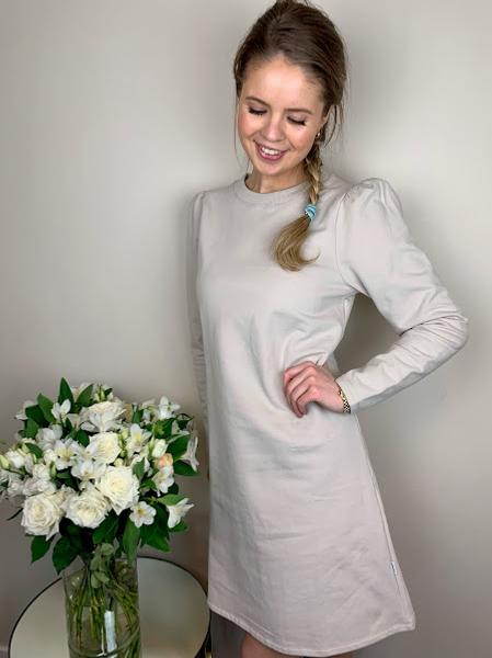 Bilde av ella&il Farah Dress Beige