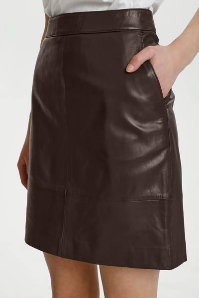 Bilde av Gestuz Char Leather Skirt