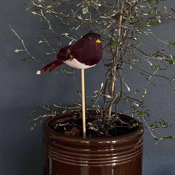 Bilde av Und Småfugl på pinne Vinrød